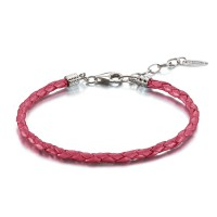 Pulsera CHAMILIA LEATHER BRACELET PINK METALLIC