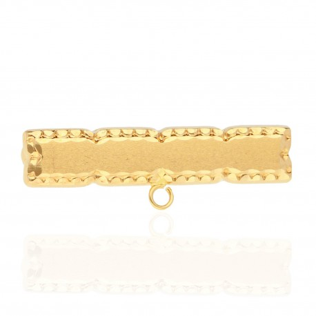 Alfiler bebé rectangular oro 18K