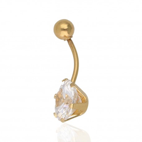 Piercing piedra color Oro 18Ktes