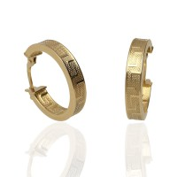 Pendientes ¨Greece¨ Oro 18k 15mm